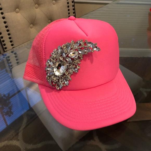 Zara Accessories - Crystal Embellished Hat
